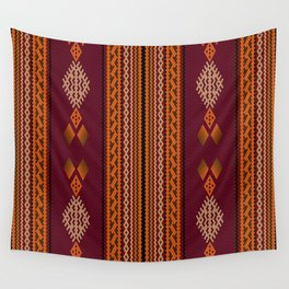 Latin American ethnic ornament, pattern, mosaic, embroidery. Wall Tapestry