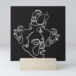 Woman faces Mini Art Print