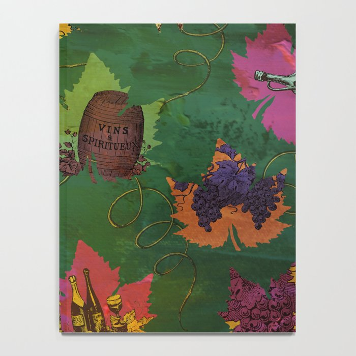 Autumn Grapes and Wine Notebook