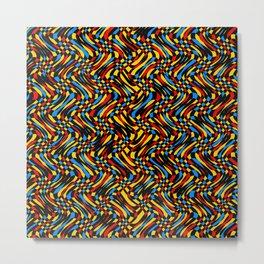 Prism Wave - Mandala Preium Series 012 Metal Print