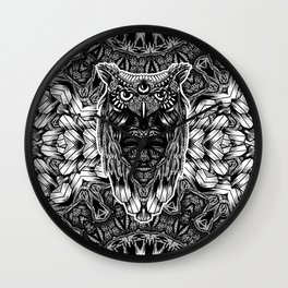 Owl and face Wall Clock