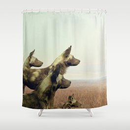 Hi, we are the wild dogs Shower Curtain