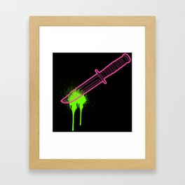 Hot Pink Knife Framed Art Print