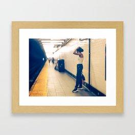 Is hot down here New York Subway Framed Art Print