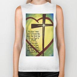God Is Love Cross Biker Tank