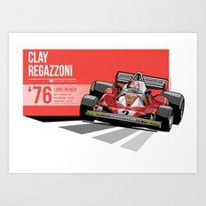 Clay Regazzoni - 1976 Long Beach Art Print