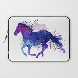 Running Horse Watercolor Silhouette Laptop Sleeve
