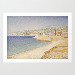 The Jetty at Cassis, Opus 198 Art Print