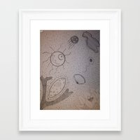 biology Framed Art Prints featuring Organic Biology by Design Gregory