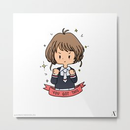 You Got This Sakura-chan Chibi Fan Art  Metal Print
