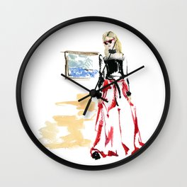 Cool gal Wall Clock