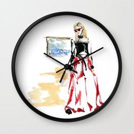 Cool gal Wall Clock