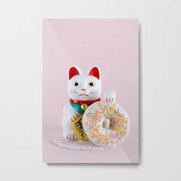 Maneki Donut Metal Print