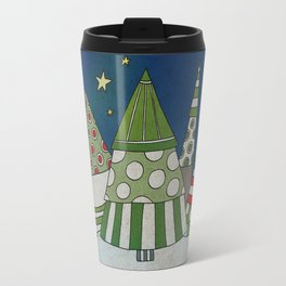 Night in the Winter Forest Travel Mug
