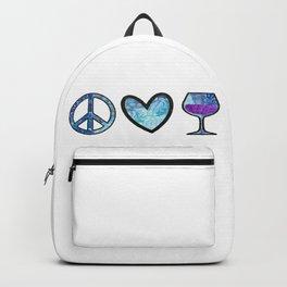 Sweet Peace Love & Wine Backpack