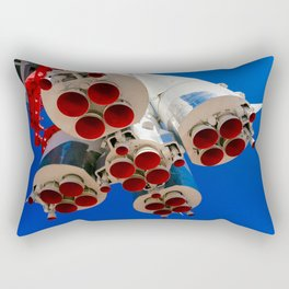 Vintage Spacecraft Boosters And Blue Sky Rectangular Pillow
