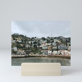 Cute Seaside Town Mini Art Print