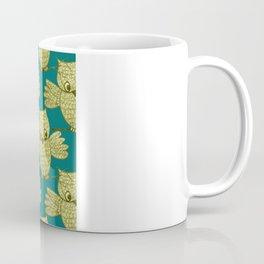 Little Yellow Owl Pattern Coffee Mug