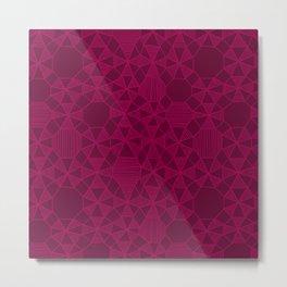 Abstract Minimalism in Raspberry Metal Print