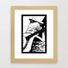 "Larry ""Deal With It"" Lizard Framed Art Print"