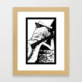 "Larry ""Deal With It"" Lizard Framed Art Print"