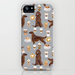 Irish Setter coffee latte dog breed cute custom pet portrait for dog lovers iPhone Case