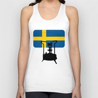 sweden Tank Tops featuring Sweden flag | Pressure stove by mailboxdisco