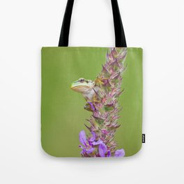 The little green frog Tote Bag