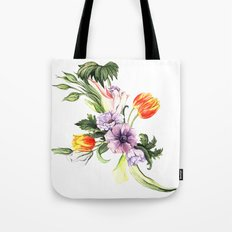 Watercolor spring floral pattern Tote Bag