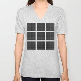Squares of Black Unisex V-Neck