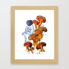 Lady and the Shroom Framed Art Print