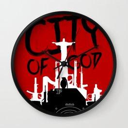 City of God - Minimal Movie Fanart Alternative Wall Clock