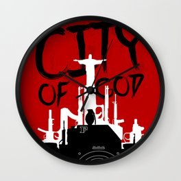 City of God - Minimal Movie Fanart Alternative Wall Clock