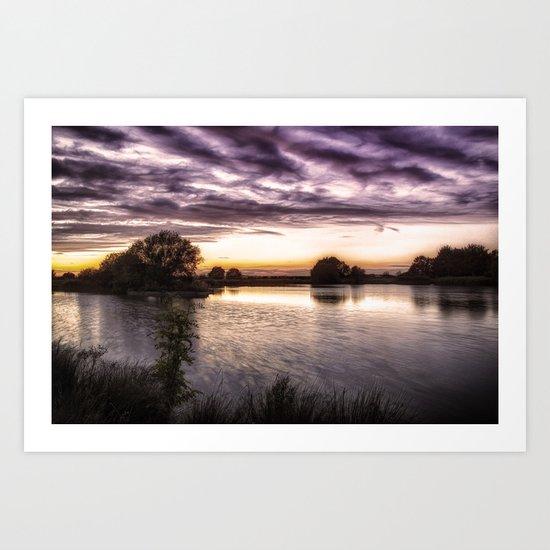 Fields End Water Art Print