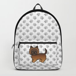 Cute Red Brindle Cairn Terrier Dog Cartoon Illustration Backpack