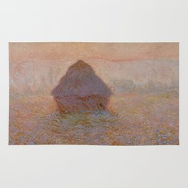 Claude Monet - Grainstack, Sun in the Mist, 1891 Rug