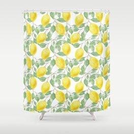 Sicilian Lemon Pattern I Shower Curtain
