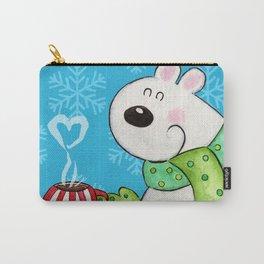 Hot Cocoa Polar Bear Carry-All Pouch