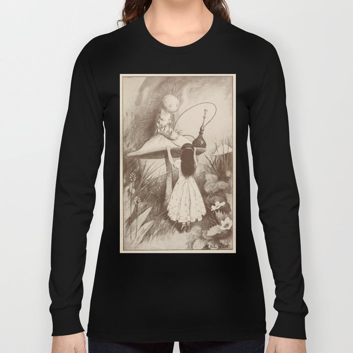 Alice in Wonderland With the Caterpillar  Long Sleeve T-shirt