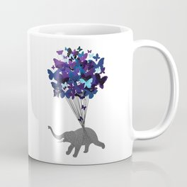 Elephant and Butterflies  Coffee Mug