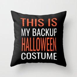 Backup Halloween Costume Throw Pillow