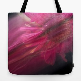 Abstract Pink Gerbera Daisy-Fleur Blur Series Tote Bag