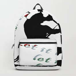 Let It Blow Christmas Holiday Kitesurfing Activity Backpack