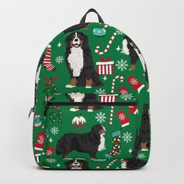 Bernese Mountain Dog christmas dog breed gifts mittens stockings presents candy canes Backpack