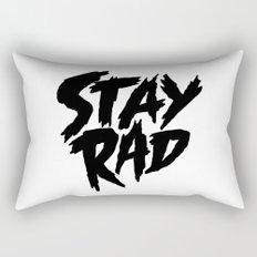 Stay Rad (on White) Rectangular Pillow