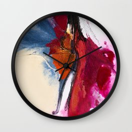 Playful Courting Wall Clock