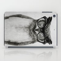 hipster iPad Cases featuring Mr. Owl by Isaiah K. Stephens