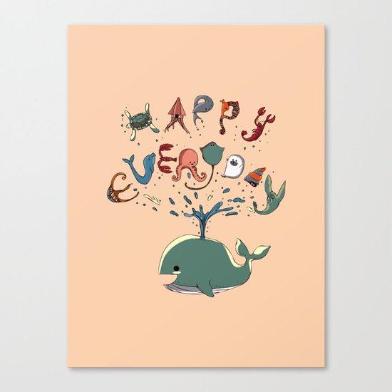 Happy Everyday Canvas Print