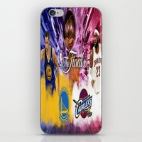 basketball iPhone & iPod Skins featuring Basketball  by RickART