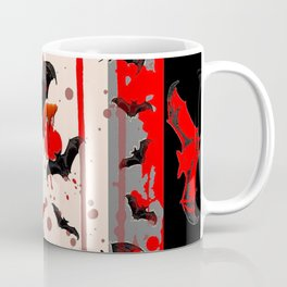 BLACK BATS & HALLOWEEN BLOODY ART DESIGNED Coffee Mug